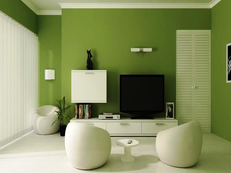 El verde calma y relaja pero en exceso puede causar monotonía.