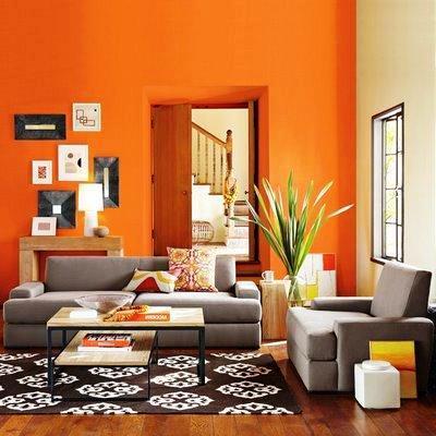 El naranja estimula la creatividad, alegra el ambiente y provoca bienestar y alegría.