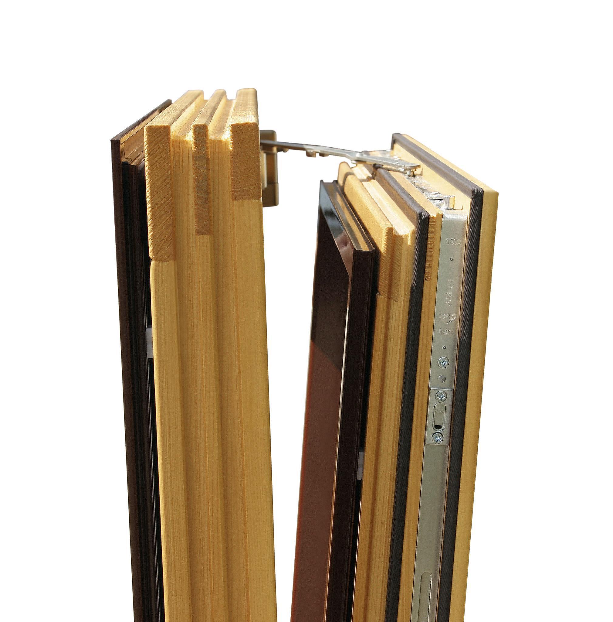 El sistema oscilobatiente es ideal para habitaciones, gira en sentido horizontal y vertical.