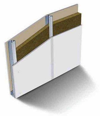 La estructura del pladur está formada por perfiles y piezas metálicas (montantes) donde se fija después la placa de cartón yeso.