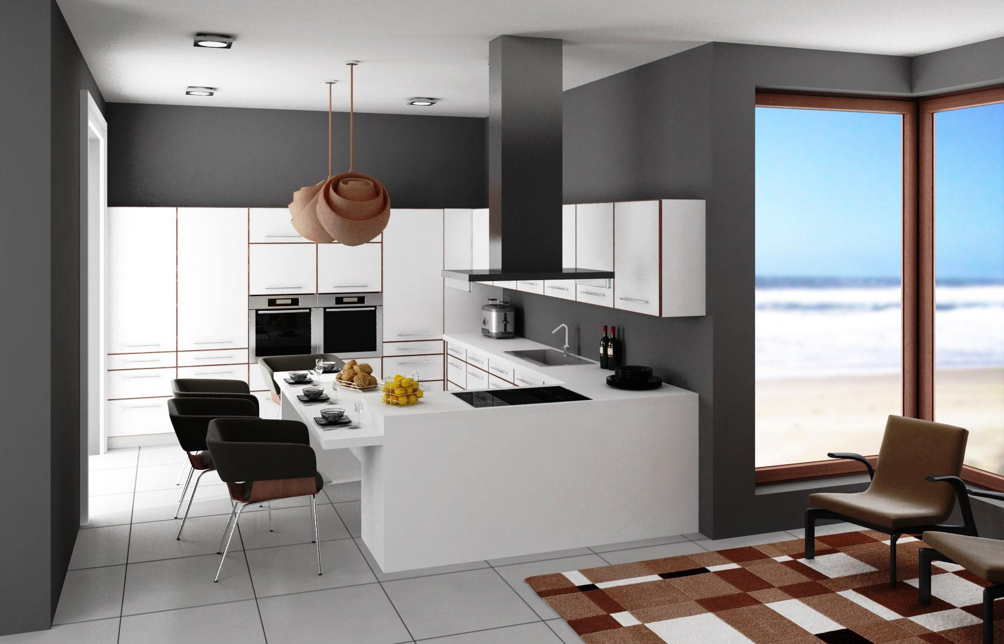 Las cocinas de estulo moderno están compuestas por muebles lisos que facilitan su limpieza y dificultan la acumulaci´ón e sucuiedad. La ventilaciñon de su cocina es de extrema importancia.