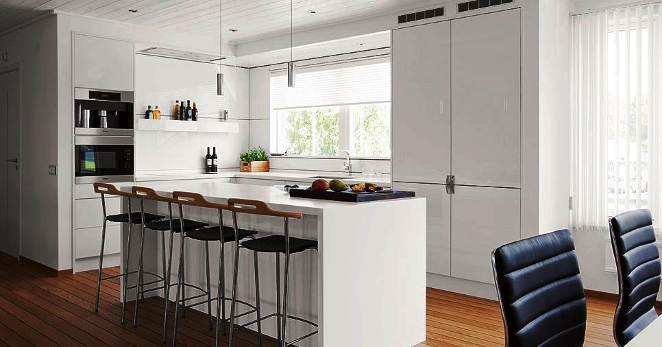 Las cocinas pueden tener erquipamientos en acero, inox, aluminio o madera de acuerdo al concepto pretendido.