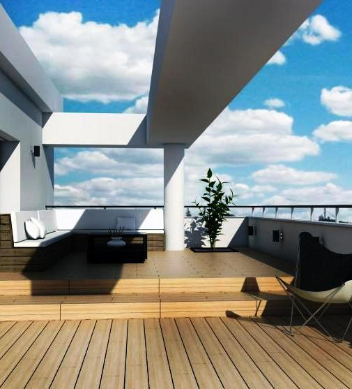 Las cubiertas planas pueden ser accesibles, permietiendo el aprovechamiento del espacio exterior de los edificios.