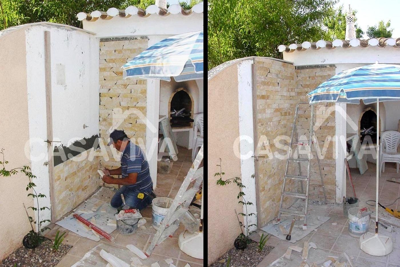 Portfolio reformas casa viva obras - Piedra para pared exterior ...