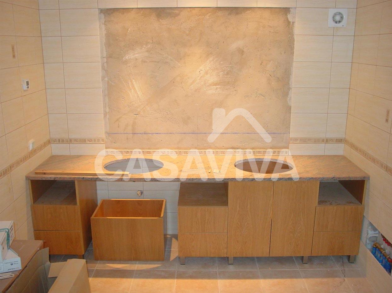 Mueble bano obra dise os arquitect nicos for Mueble de obra
